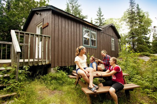 Boundary waters rustic cabin