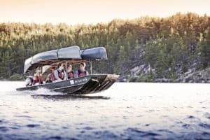 Get a boat ride across Sag Lake and into Quetico Park