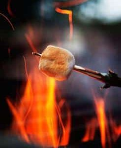 Boundary Waters campfire perfect for roasting marshmallows