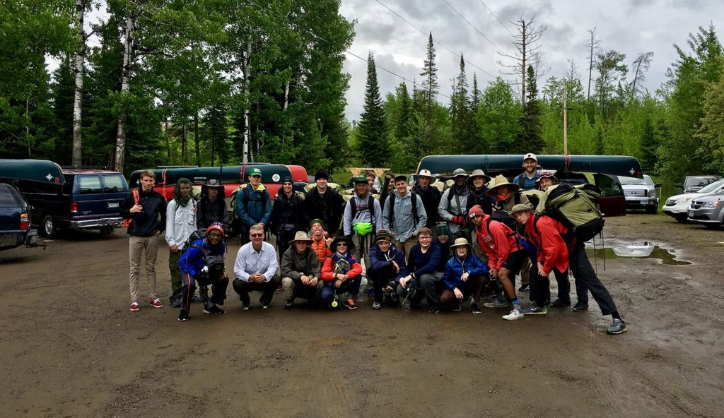 Group canoe camping trips outfitted with Voyageur
