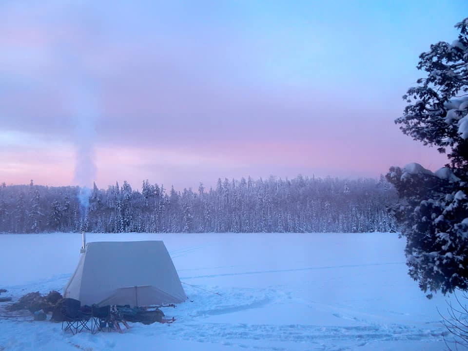 Winter Camping on the Gunflint Trail