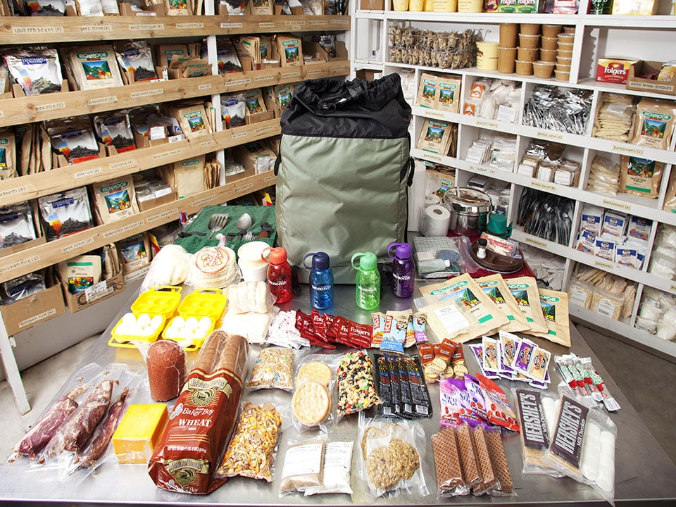 Partial outfitting package with food for BWCA