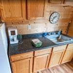 Waters Edge Guest Cabin Kitchen